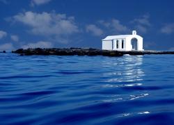 Scenic St. Nicholas Chapel at Georgioupolis, Crete